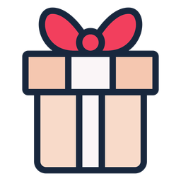 Cute present stroke icon