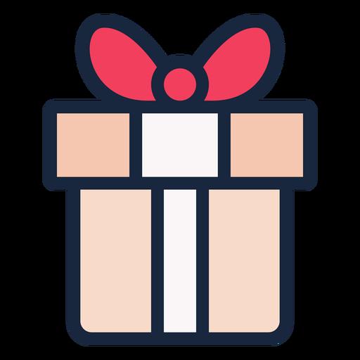 Cute present stroke icon