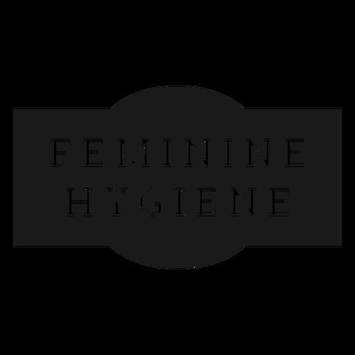 Feminine hygiene label