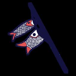 Fish duotone