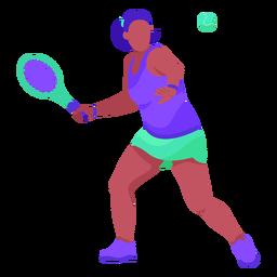 Flat tennis player