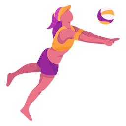 Flat volleyball player