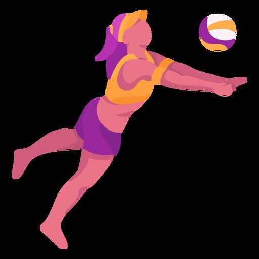 Jugador de voleibol plano Transparent PNG