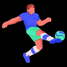 Plano de jugador de futbol