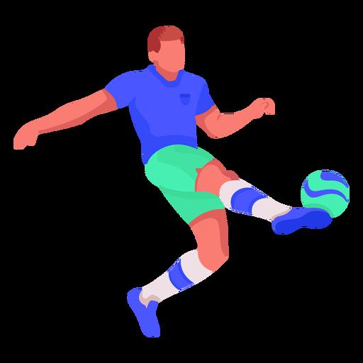 Football player flat