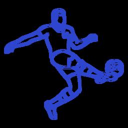 Football player stroke