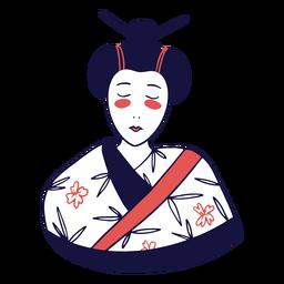 Geisha duotone