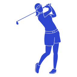 Golf player blue
