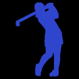 Golfspieler blau