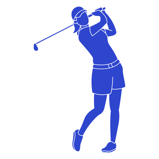 Golf player blue Transparent PNG