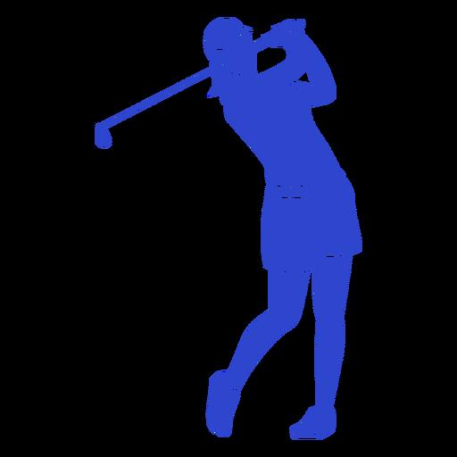 Jogador de golfe azul