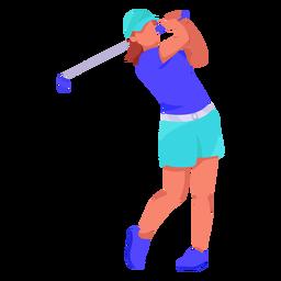 Jugador de golf plana