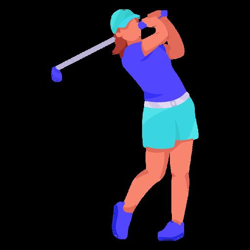 Golf player flat