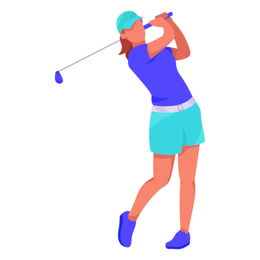 Jugador de golf plana Transparent PNG