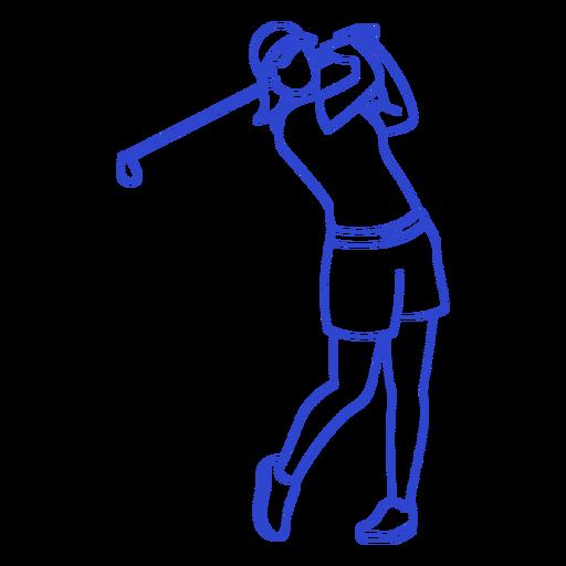 Golf player stroke