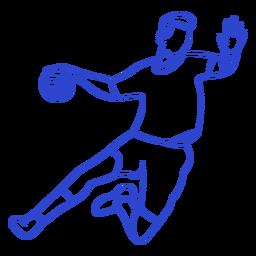 Handball player stroke