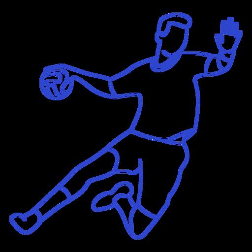Golpe de jugador de balonmano Transparent PNG