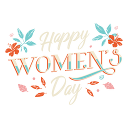 Happy womens day lettering