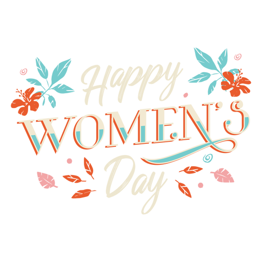 Happy womens day lettering Transparent PNG