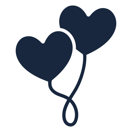 Heart balloons blue icon Transparent PNG