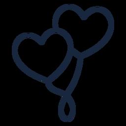 Heart balloons stroke