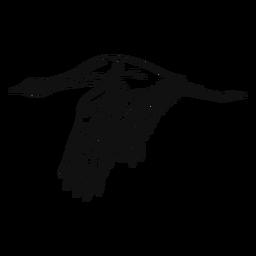 Heron black and white