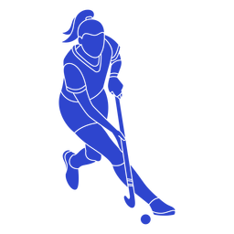 Hockey player blue