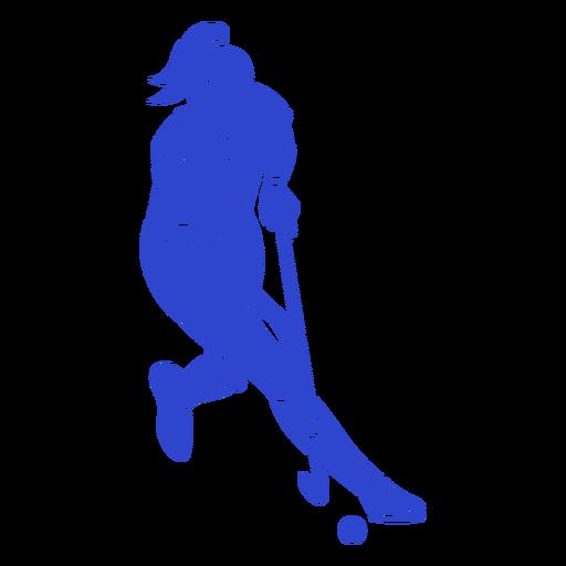 Jugador de hockey azul