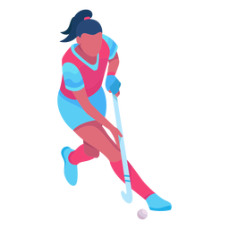 Hockey player flat