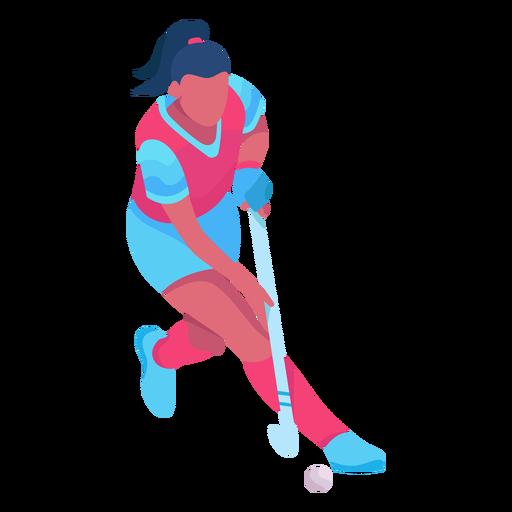 Hockey player flat