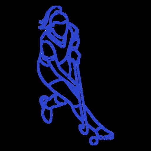 Hockey player stroke