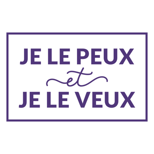 I can and i will french lettering