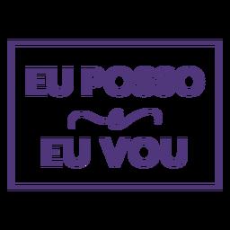 Eu posso e eu vou letras portuguesas