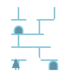 Igloo letter k