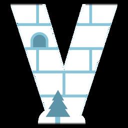 Igloo letter v