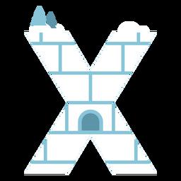 Igloo letter x