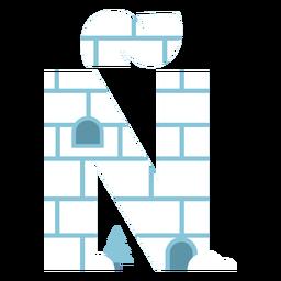 Igloo letter ñ