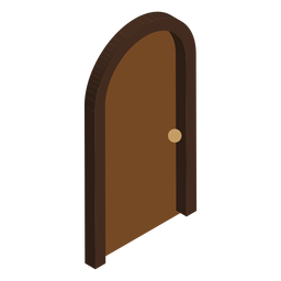 Isometric arched shaped door