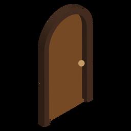 Puerta isométrica en forma de arco