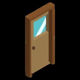 Puerta de madera isométrica