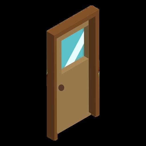 Isometric wooden door