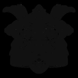 Máscara de Kabuto en blanco y negro