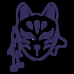 Trazo de máscara kitsune