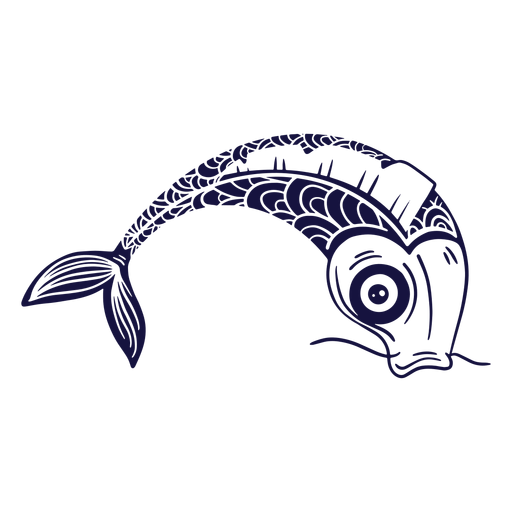 Koi fish blue Transparent PNG