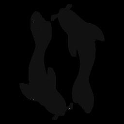 Koi fish silhouette fish