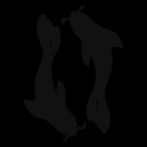 Pez Koi silueta pez