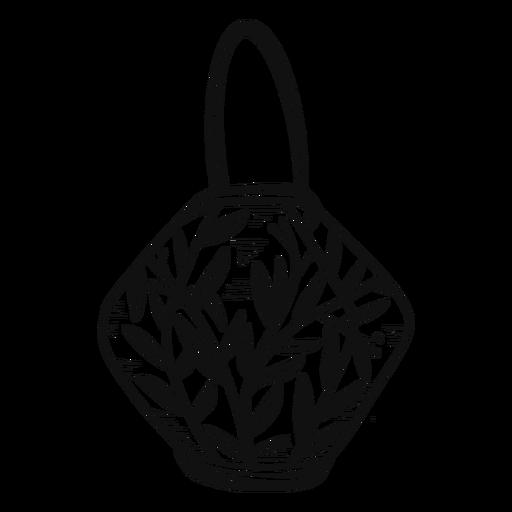 Lantern black and white