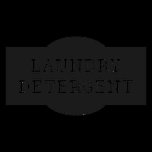 Laundry detergent label