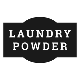 Laundry powder label