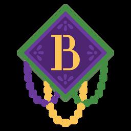 Guirnalda de letra b